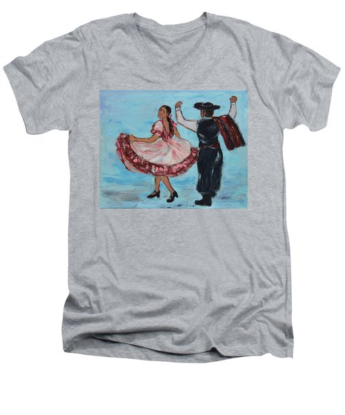 Argentinian Folk Dance Men's V-Neck T-Shirt