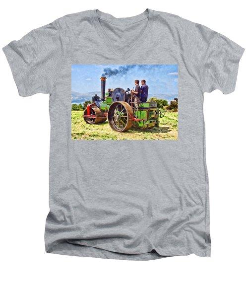 Aveling Roller Men's V-Neck T-Shirt