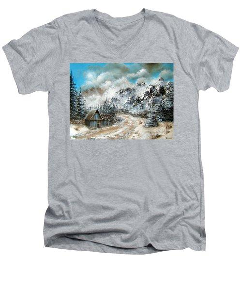 Back Home Men's V-Neck T-Shirt by Patrice Torrillo