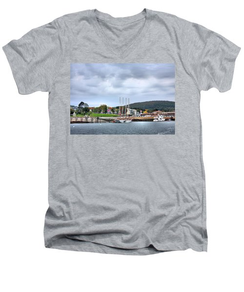 Men's V-Neck T-Shirt featuring the photograph Bar Harbor Maine by Kristin Elmquist