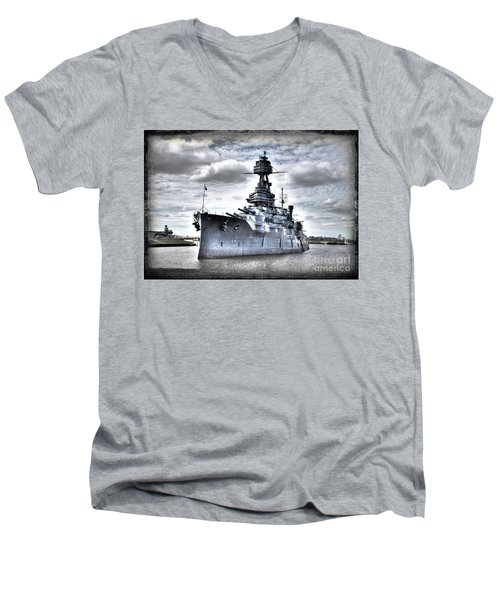 Battleship Texas Men's V-Neck T-Shirt