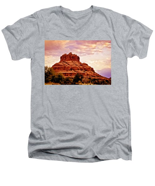 Bell Rock Vortex Painting Men's V-Neck T-Shirt