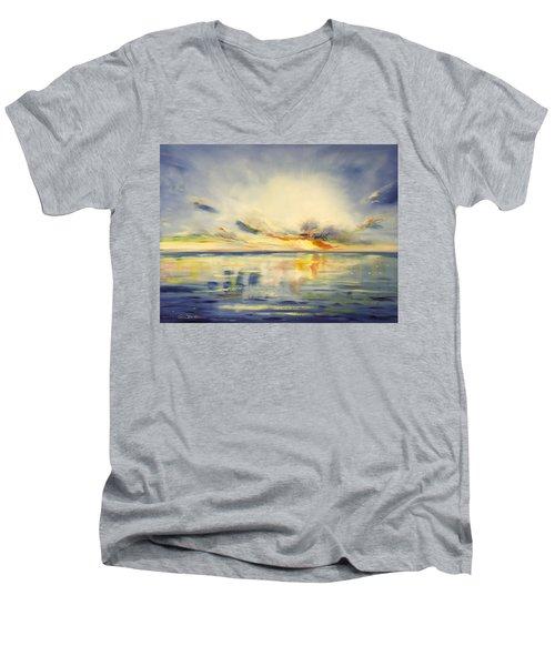 Blue Sunset Men's V-Neck T-Shirt