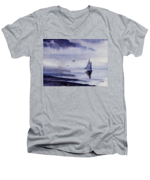 Boat Men's V-Neck T-Shirt by Sam Sidders