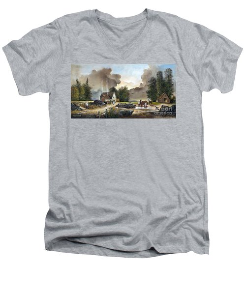Bodmin Farm Men's V-Neck T-Shirt