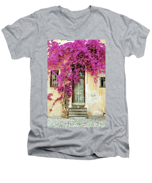 Bougainvillea Doorway Men's V-Neck T-Shirt