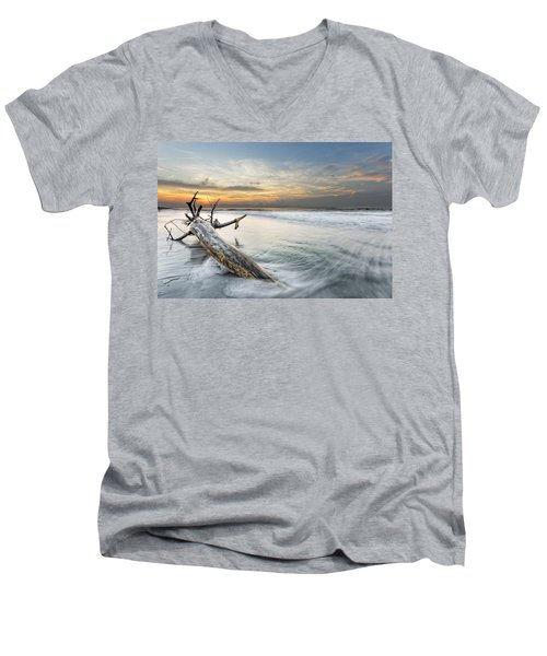 Bough In Ocean Men's V-Neck T-Shirt