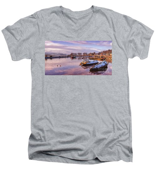 Bowling Harbour Panorama 02 Men's V-Neck T-Shirt