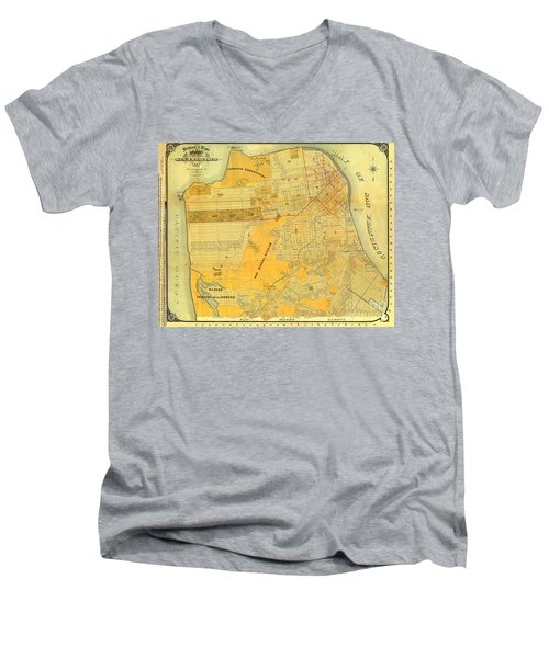 Britton And Reys Guide Map Of The City Of San Francisco. 1887. Men's V-Neck T-Shirt