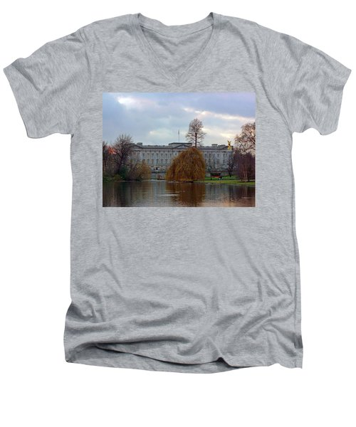 Buckingham Palace Men's V-Neck T-Shirt by Lynn Bolt