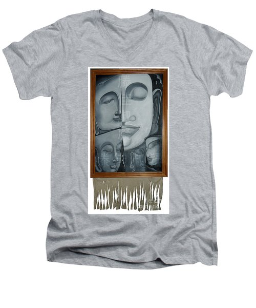 Buddish Facial Reactions Men's V-Neck T-Shirt