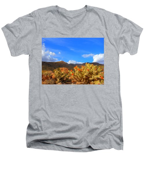 Cactus In Spring Men's V-Neck T-Shirt