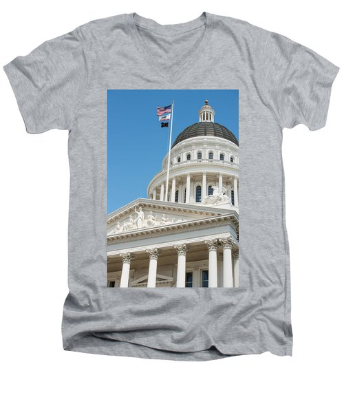 California State Capitol In Sacramento Men's V-Neck T-Shirt