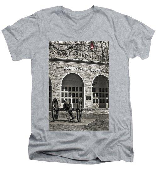 Camp Randall - Madison Men's V-Neck T-Shirt by Steven Ralser