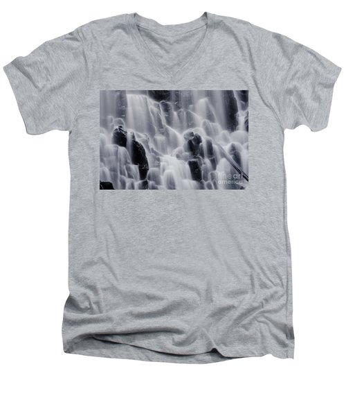 The Land Of Tumbling Waters Men's V-Neck T-Shirt by Nick  Boren
