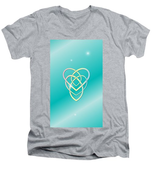 Celtic Motherhood Knot Men's V-Neck T-Shirt