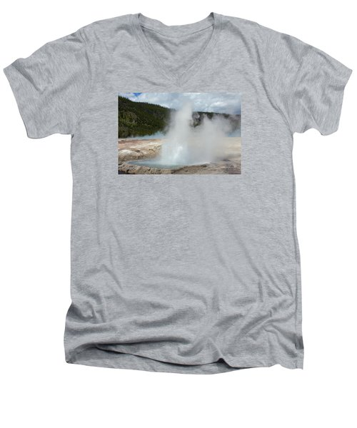Cliff Geyser Men's V-Neck T-Shirt