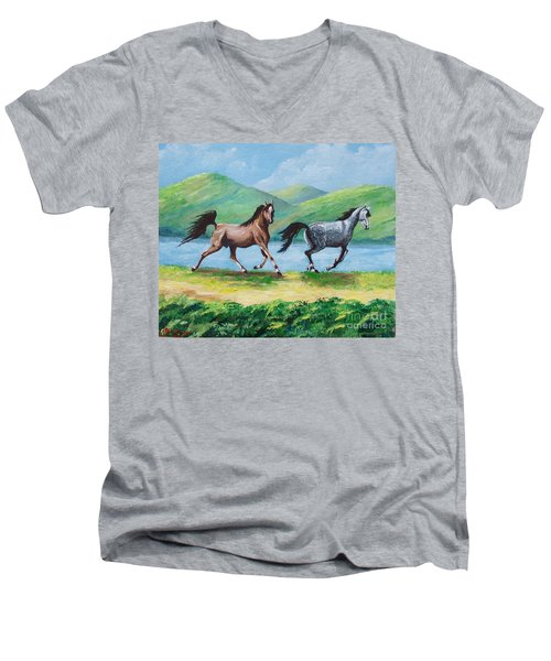 Colt And Mare Men's V-Neck T-Shirt