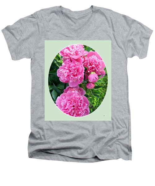 Country Peonies Men's V-Neck T-Shirt