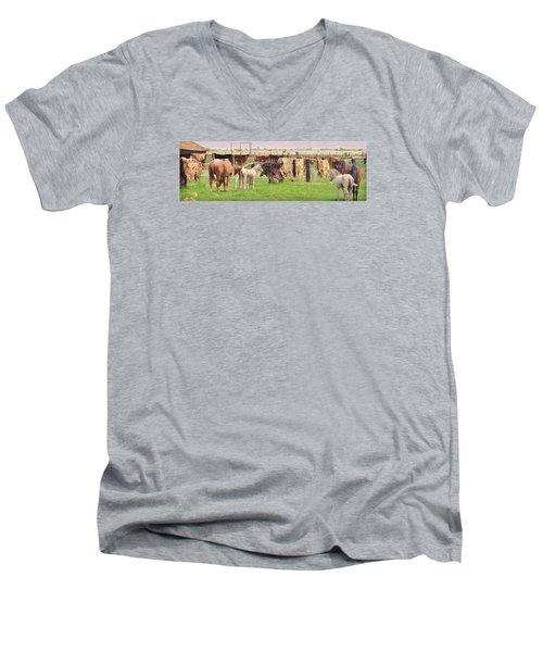 Cow Hides Men's V-Neck T-Shirt