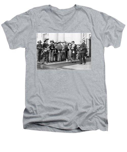 Cowboy Band, 1929 Men's V-Neck T-Shirt by Granger