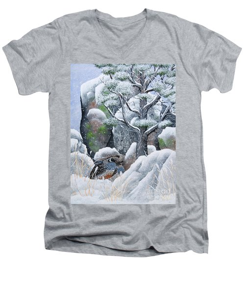 Cozy Couple Men's V-Neck T-Shirt