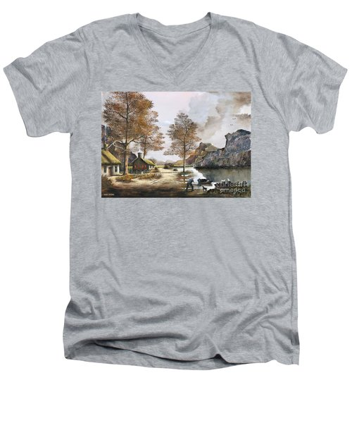 Crofters Cottages Men's V-Neck T-Shirt
