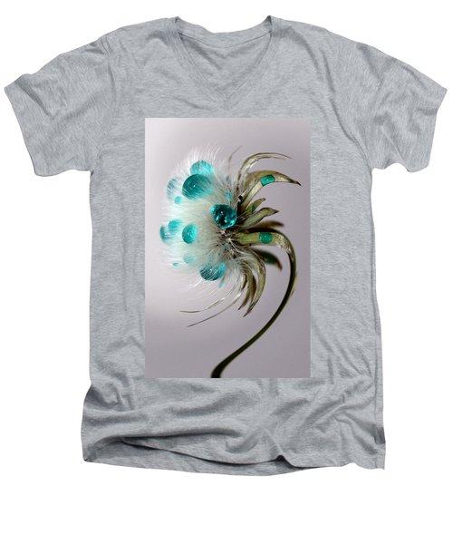 Dandelion Blues Men's V-Neck T-Shirt