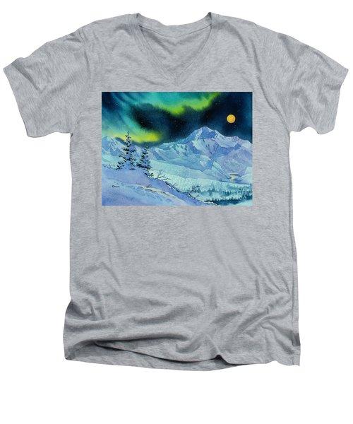 Denali Night Men's V-Neck T-Shirt