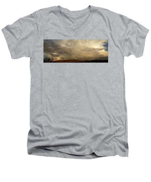 Men's V-Neck T-Shirt featuring the photograph Desert Storm by Chris Tarpening
