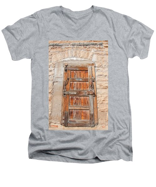Men's V-Neck T-Shirt featuring the photograph Door Series 1 by Minnie Lippiatt
