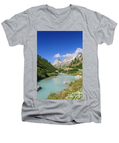 Dora Stream. Veny Valley Men's V-Neck T-Shirt