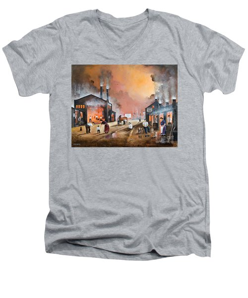 Dudleys By Gone Days Men's V-Neck T-Shirt