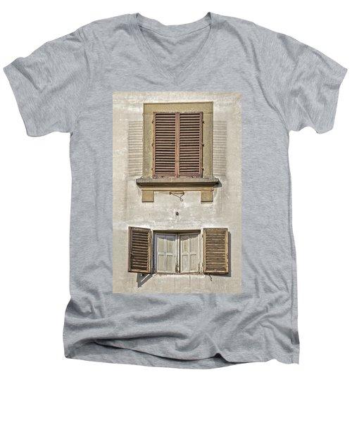 Dueling Windows Of Tuscany Men's V-Neck T-Shirt