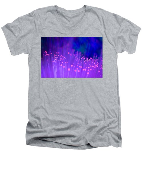 Men's V-Neck T-Shirt featuring the photograph Electric Ladyland by Dazzle Zazz