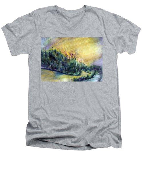 Enchanted Island Men's V-Neck T-Shirt