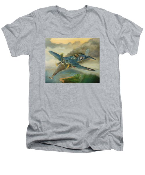 F4u Corsair Men's V-Neck T-Shirt