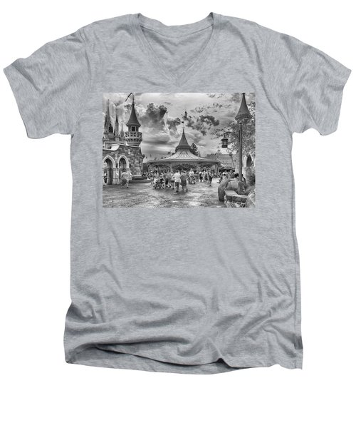 Men's V-Neck T-Shirt featuring the photograph Fantasyland by Howard Salmon
