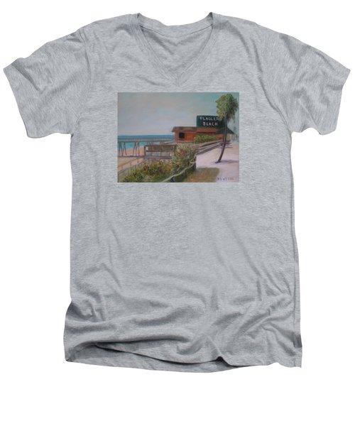 Flagler Beach Men's V-Neck T-Shirt