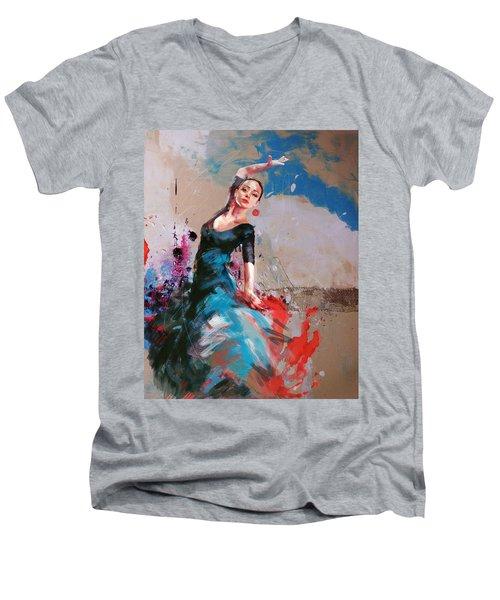 Flamenco 41 Men's V-Neck T-Shirt