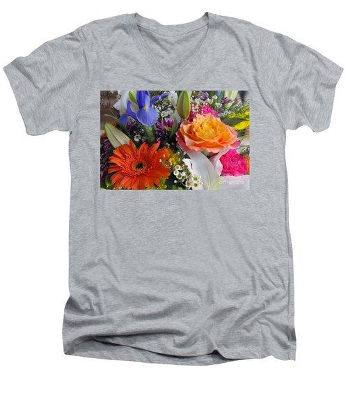 Floral Bouquet 5 Men's V-Neck T-Shirt