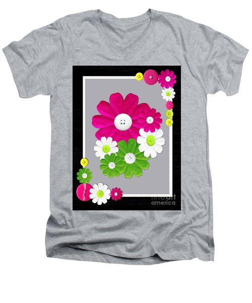 Men's V-Neck T-Shirt featuring the photograph  Delightful Florals by Tina M Wenger