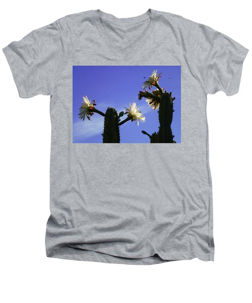 Flowering Cactus 4 Men's V-Neck T-Shirt