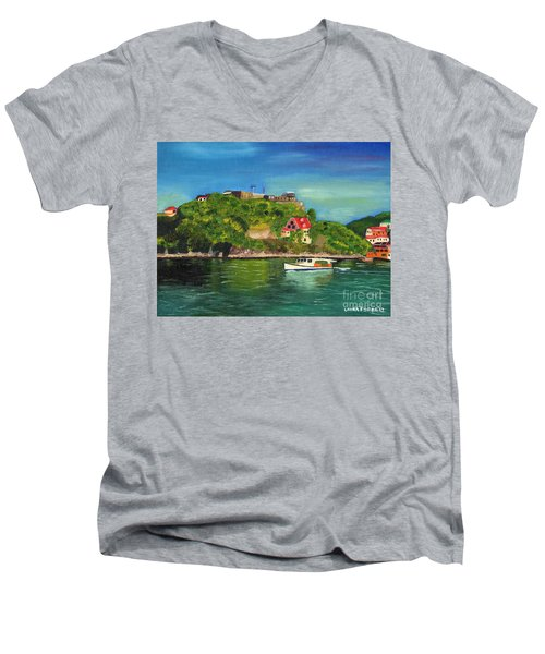 Fort George Grenada Men's V-Neck T-Shirt