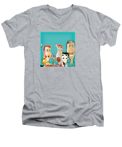 Friendship Men's V-Neck T-Shirt by Iris Gelbart