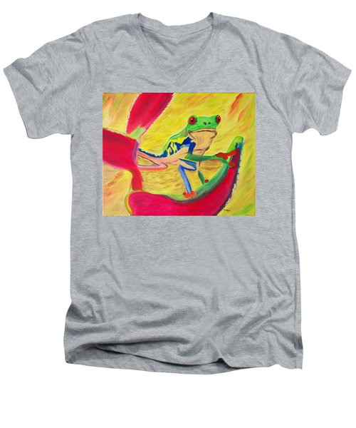 Rainforest Melody Men's V-Neck T-Shirt