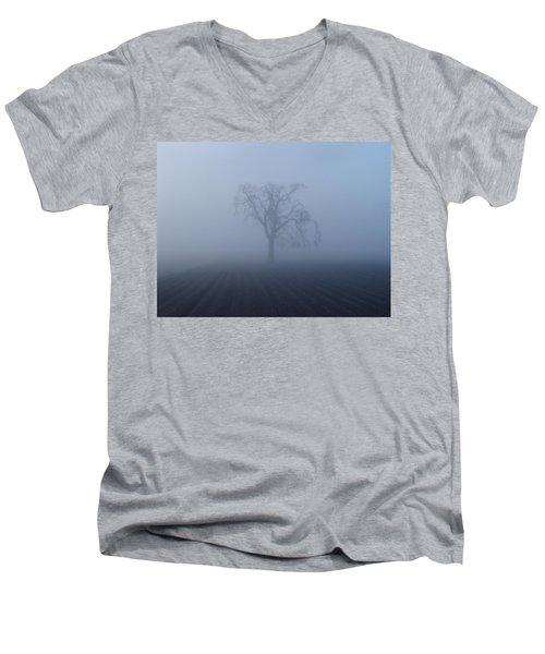Garry Oak In Fog  Men's V-Neck T-Shirt