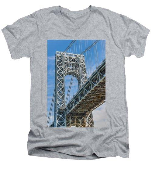 George Washington Bridge Men's V-Neck T-Shirt