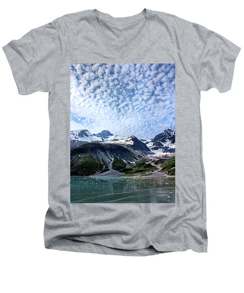 Men's V-Neck T-Shirt featuring the photograph Glacier Bay Beautiful by Kristin Elmquist
