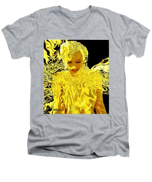 Golden Goddess Men's V-Neck T-Shirt